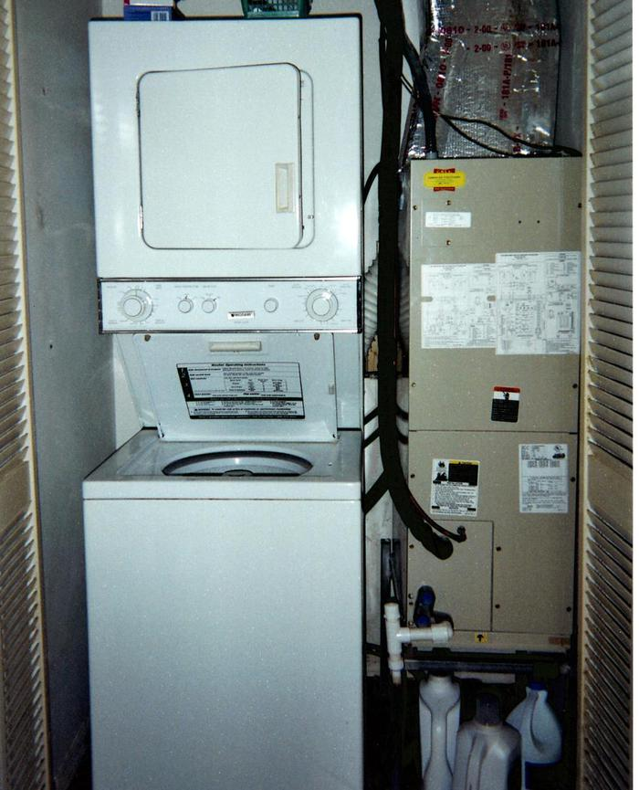 Stacked Washer & Dryer, A/C - 324 Beach Park Lane